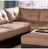 Corner Unit in Brown Microfiber - Coaster