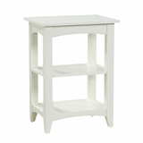 End Table with 2 Shelves in Ivory - Shaker Cottage - Alaterre - ASCA02IV