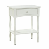 End Table in Ivory - Shaker Cottage - Alaterre - ASCA01IV
