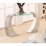 End Table in Chrome Plated / Glass - Coaster