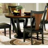 Boyer Dining Table in Black / Cherry - Coaster - 102091