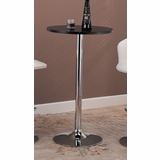 Bar Table in Black / Chrome - Coaster - 120340