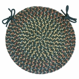 Blossom Teal 15 Braided Chair Pad - Rhody Rug - BL-6715CPTE