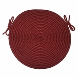 Tapestry Red Wine 15 Braided Chair Pad - Rhody Rug - TA-4215CPRW