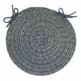 Duet Blue Bonnet 15 Braided Chair Pad - Rhody Rug - D-93315CPBL