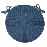 Braided Hook Collection 15 Chair Pad Williamsburg - Rhody Rug - SYIB-90215CPWB