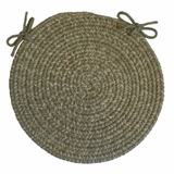 Duet Moss 15 Braided Chair Pad - Rhody Rug - D-63315CPMO