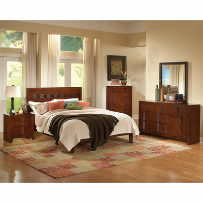 resin california king size bedroom furniture set in country cherry