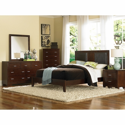 tiffany eastern king size bedroom furniture set in country cherry