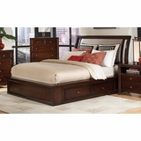 Queen Size Bed - Nadine Queen Size Bed in Dark Mahogany - Coaster - 201331Q