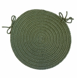 Rio Olive 15 Braided Chair Pad - Rhody Rug - RI-6715CPOL