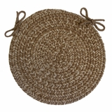 Duet Taupe 15 Braided Chair Pad - Rhody Rug - D-83315CPTP