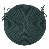Rio Spruce Green 15 Braided Chair Pad - Rhody Rug - RI-2715CPSP