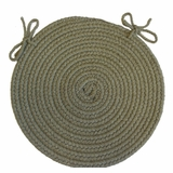 Tapestry Moss 15 Braided Chair Pad - Rhody Rug - TA-6215CPMO