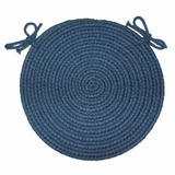 Tapestry Sailor Blue 15 Braided Chair Pad - Rhody Rug - TA-1215CPSB