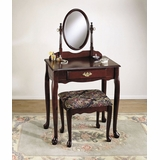 Vanity, Mirror and Bench - Heirloom Cherry - Powell Furniture - C52