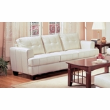 Sofa in Cream Leather - Coaster