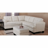 Sectional Sofa in Cream Leather - Coaster