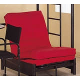 Futon Chair Pad in Black - Coaster