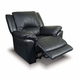 Single Recliner in Black Leather - Coaster