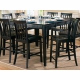 Counter Height Dining Table in Rich Black - Coaster