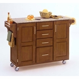 Kitchen Cart in Cottage Oak with Granite top - 91001063
