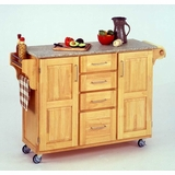 Kitchen Cart in Natural with Granite top - 91001013