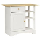 Island in White/Maple - Kitchen Essentials - New Visions by Lane - 394-002