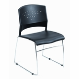 Boss Stacking Chair in Black (Set of 4) - B1400-BK-4