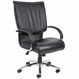 Boss Executive Chair in Leatherplus Black - B9702C
