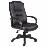 Boss Executive High Back Chair in Leatherplus Black - B7502