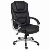 Boss Executive Chair in Leatherplus Black - B8602