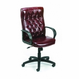Boss Button Tufted Executive Chair In Burgundy - B8502-BY