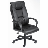 Boss Executive Chair in Leatherplus Black - B7602