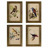 Wooden Bird Plaques (Set of 4) - IMAX - 16125-4