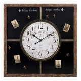Paris Chalkboard Clock with Magnets - IMAX - 27308