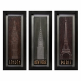 Journeys Wall Panels (Set of 3) - IMAX - 12631-3