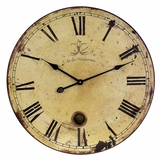 Large Wall Clock with Pendulum - IMAX - 2511
