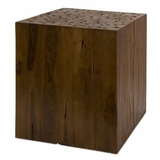 Zatana Teak Wood Side Table - IMAX - 51376
