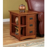 Magazine Cabinet Table - Mission Oak - Powell Furniture - 356