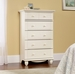 Harbor View 5-Drawer Chest Antique White - Sauder Furniture - 158015