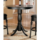 Round Bar Table in Black - Coaster