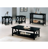Occasional Table Set in Cappuccino - Coaster - COAST-159091-TABLE-SET-1