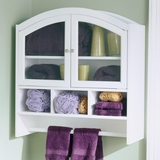 White Arch Top Wall Cabinet - Holly and Martin