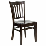 HERCULES Vertical Slat Back Wood Chair with Walnut Finish - XU-DGW0008VRT-WAL-GG