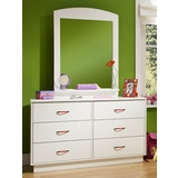 Dresser and Mirror Set in Pure White - South Shore Furniture - 3360-DM