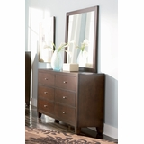 Lorretta Dresser with Mirror in Deep Brown - Coaster - 201513-14-SET