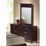 Kendra Dresser with Mirror in Mahogany - Coaster - 201293-94-SET