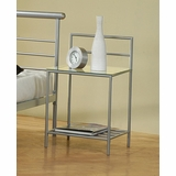Night Stand in Metal Silver - Coaster - 300222