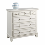 Arts and Crafts Drawer Chest in White - Home Styles - 5182-41